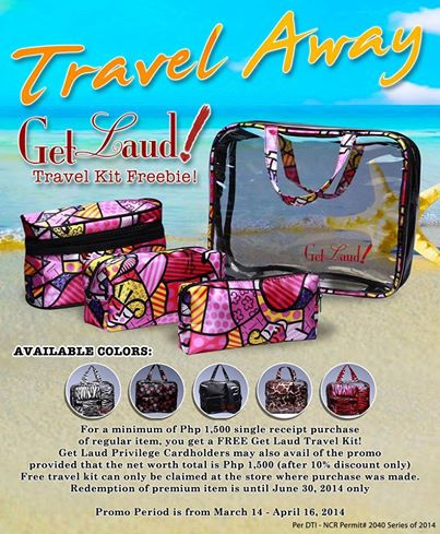 Grab a FREE Get Laud! Travel Kit