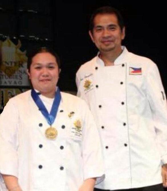 Chef Llerma and her mentor Chef Gene Gonzales