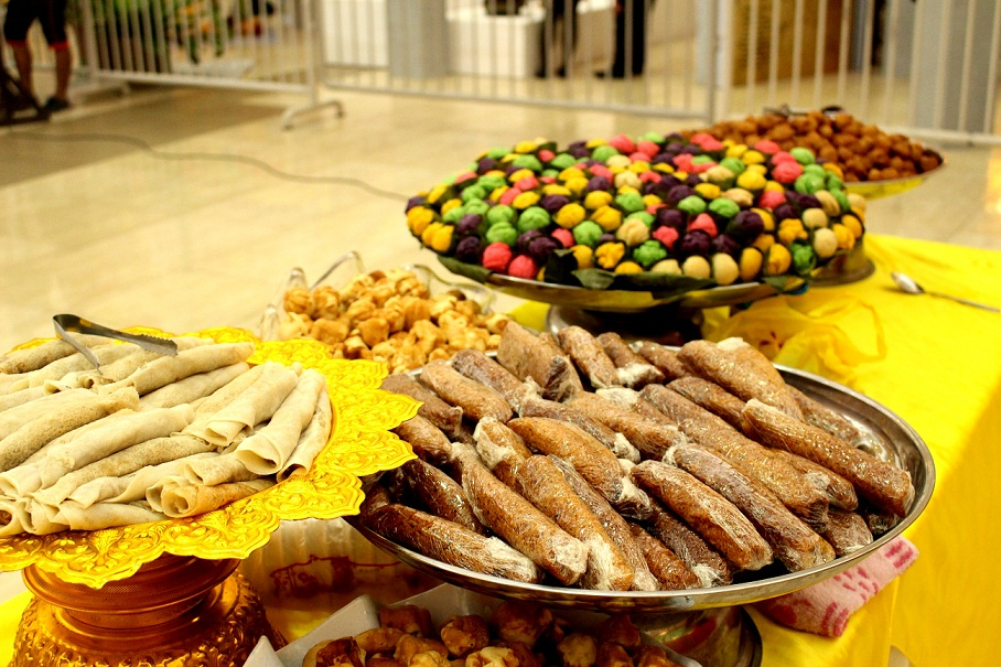 Indigenous food served during the event.