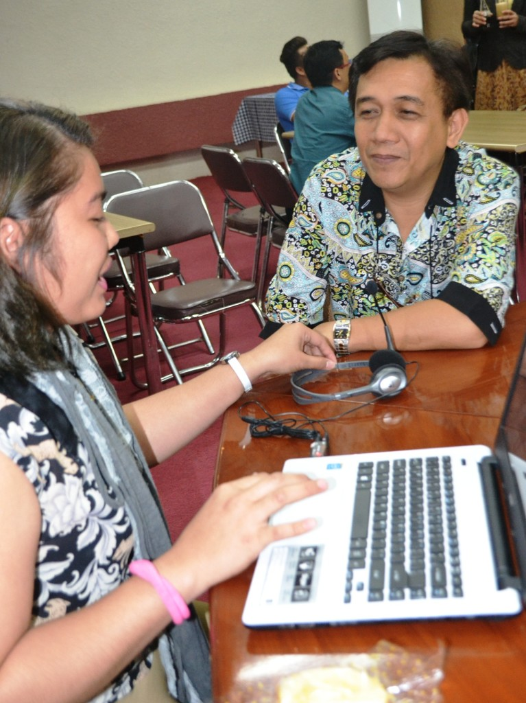 Mr. Mario Dela Cerna during his interview with Davao Egale Online