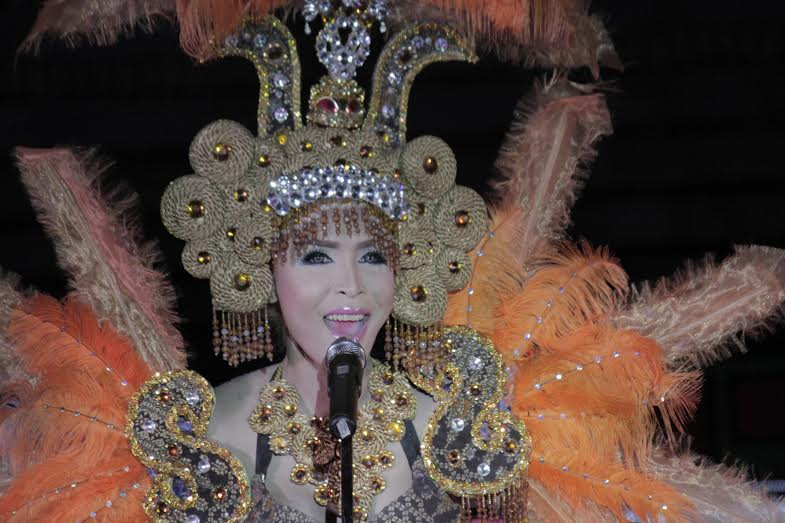 Exur Pastor Lañuwa was crowned Goddess of the Night, Gay Summit Queen 2015, wearing his winning Creative Goddess Attire during the pageant night at Tagum Trade and Cultural Center Pavillon last July 25, 2015. Photo by Leo Timogan/CIO Tagum