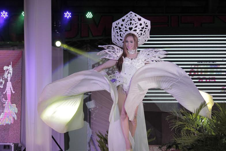 Herven Nebrada one of the candidate in his Creative Goddess Attire during the pageant night at Tagum Trade and Cultural Center Pavillon last July 25, 2015. Photo by Leo Timogan/CIO Tagum