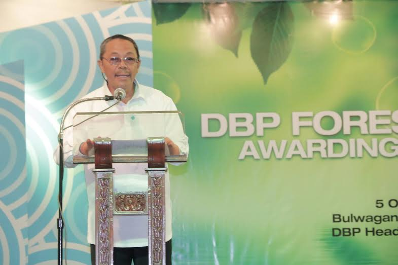 City Environment and Natural Resources Officer Engr. Elias Ragos delivered a remarks in lieu of Mayor Allan L. Rellon after the Local Government Unit of Tagum received its latest award from the Development Ban of the Philippines as Outstanding Program Partner of the Development Bank of the Philippines. Jay Apostol/CIO Tagum