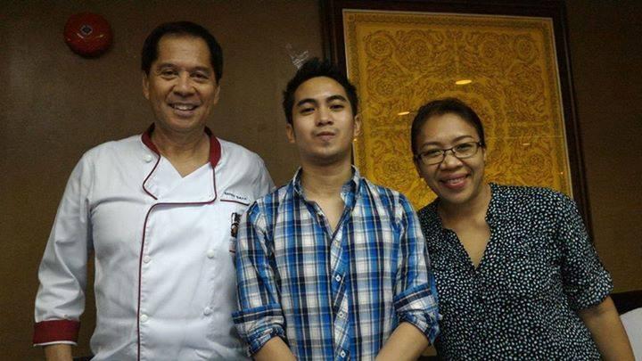 (left-right) Chef Sandy Daza, myself, fellow blogger Ms. Verna Luga