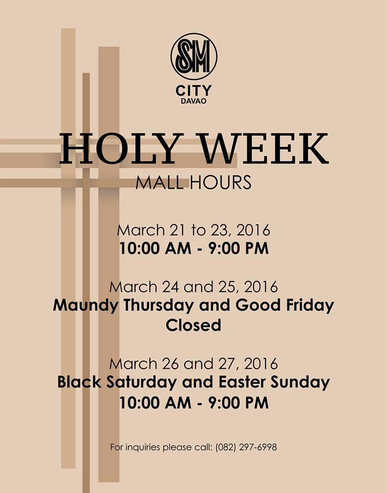 Holy Week 2016 SM City Davao