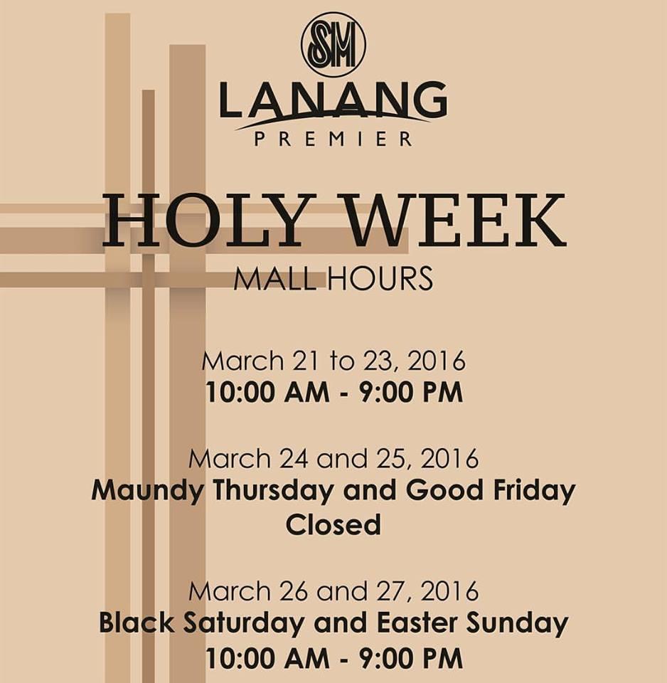 Holy Week 2016 SM Lanang Premier