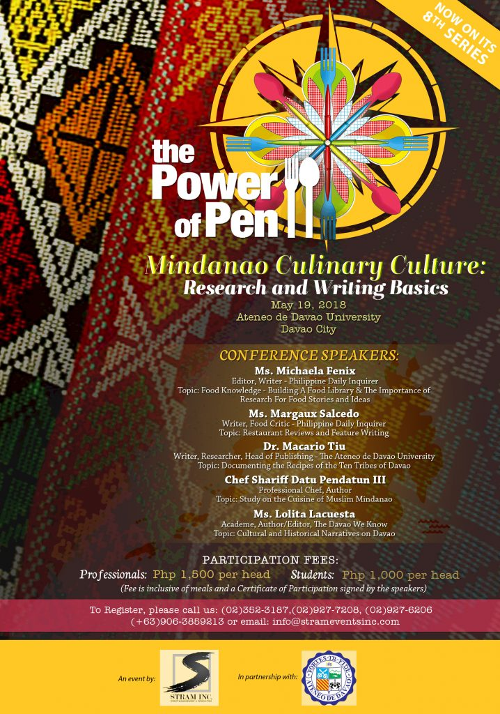 Power of Pen to Cultivate Literary Art by Digging Mindanao Culinary